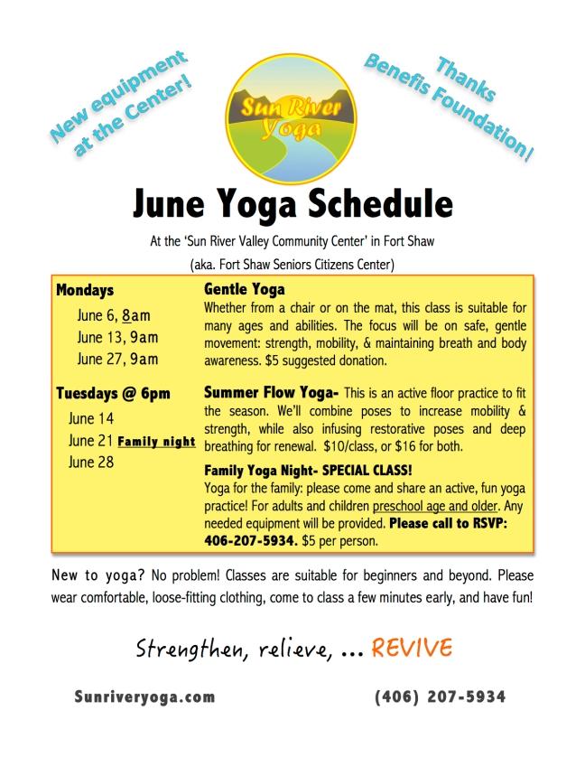 June 16 schedule